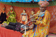Rajasthani Folk Artist Royalty Free Stock Photos