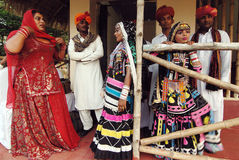 Rajasthani Folk Artists Stock Photo
