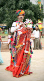 Rajasthani folk dancer Royalty Free Stock Photos