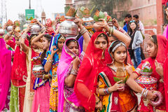 Rajasthani girls Royalty Free Stock Photography