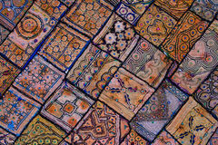 Rajasthani indian patchwork wall cloth Royalty Free Stock Photo