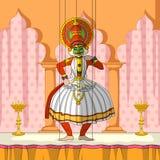 Rajasthani Kathakali Kukiełkowy robi klasyczny taniec Kerala, India ilustracji