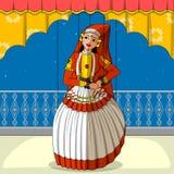 Rajasthani Kathakali Kukiełkowy robi klasyczny taniec Kerala, India Zdjęcia Royalty Free