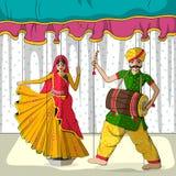Rajasthani kukła w Indiańskim sztuka stylu Obrazy Royalty Free