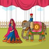 Rajasthani kukła w Indiańskim sztuka stylu Zdjęcie Stock