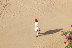 Rajasthani man with bright red Stock Photography