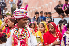 Rajasthani Man with turban stock images