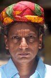 Rajasthani man with turban Royalty Free Stock Photography