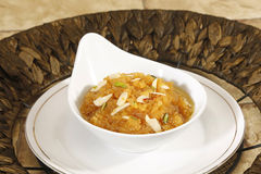 Rajasthani Moong Dal Halwa Indian Dessert fotos de stock