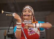 Rajasthani Peformer royalty free stock photography