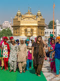 Rajasthani people visiting the Golden Temple in Amritsar, Punjab, India. Stock Image
