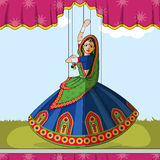 Rajasthani Puppet doing Garba folk dance of Gujarat, India Royalty Free Stock Image