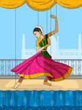 Rajasthani Puppet doing Kathak classical dance of Northern India Royalty Free Stock Images