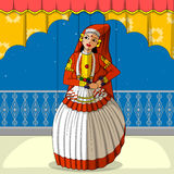 Rajasthani Puppet doing Kathakali classical dance of Kerala, India Royalty Free Stock Photos