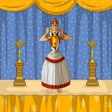 Rajasthani Puppet doing Kutiyattam classical dance of Kerala, India Royalty Free Stock Image