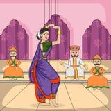 Rajasthani Puppet doing Lavani folk dance of Maharashtra, India Stock Photo