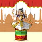 Rajasthani Puppet doing Manipuram classical dance of Manipur, India Stock Images