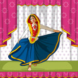 Rajasthani Puppet doing performing Phag folk dance of Haryana, India Stock Image