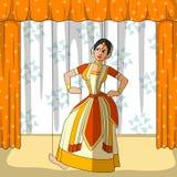 Rajasthani Puppet doing Sattriya classical dance of Assam, India Stock Photo