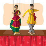 Rajasthani Puppet in Indian art style Stock Photography