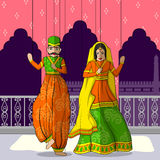 Rajasthani Puppet in Indian art style Stock Photos