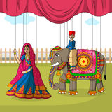 Rajasthani Puppet in Indian art style Stock Photo