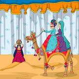 Rajasthani Puppet in Indian art style Royalty Free Stock Photos