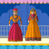 Rajasthani Puppet in Indian art style Royalty Free Stock Images