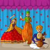 Rajasthani Puppet in Indian art style Stock Image