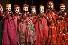 Rajasthani Puppets for Sale Royalty Free Stock Images
