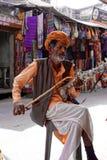 Rajasthani Ravanhatta Musician Stock Photo