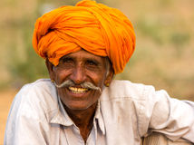 Rajasthani Smile. This is my one of the travel shot taken from rajasthan.the man have lot happy and smile Stock Photo