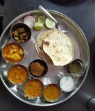 Rajasthani Thali stock afbeeldingen