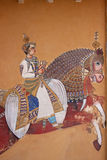 Rajasthani traditional style wall painting Royalty Free Stock Image