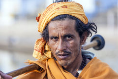 A Rajasthani tribal man wearing Royalty Free Stock Images