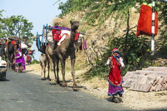 A Rajasthani tribal man wearing Stock Image