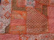 Rajasthani wall hanging made of quilted saris Royalty Free Stock Photo