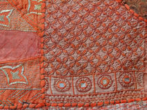 Rajasthani wall hanging made of quilted saris Stock Photos