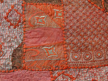 Rajasthani wall hanging made of quilted saris Royalty Free Stock Photography