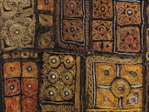 Rajasthani wall hanging made of quilted saris Royalty Free Stock Image