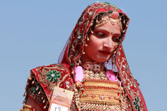 Rajasthani woman Stock Image