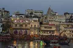 RajasthanMewar festiwal w Udaipur, India KWIECIEŃ 2016 Obraz Stock
