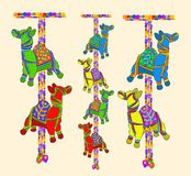 Rajasthnai dekoracja handcraft konia ilustracji