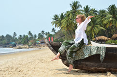 Rajbag beach of South Goa, Royalty Free Stock Photo