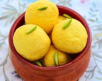 Rajbhog dolce-Kesar indiano Immagini Stock