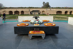 Rajghat, New Delhi. Memorial at Mahatma Gandhis body cremation place, Delhi. India Royalty Free Stock Photos
