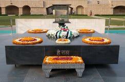 Rajghat, New Delhi. Memorial at Mahatma Gandhis body cremation place, Delhi. India Stock Photos