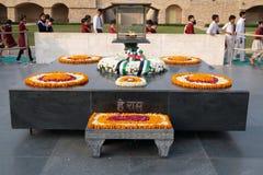 Rajghat, New Delhi. Memorial at Mahatma Gandhis body cremation place, Delhi. India Stock Photography