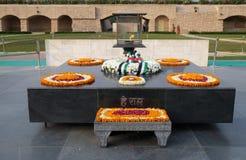 Rajghat, New Delhi. Memorial at Mahatma Gandhis body cremation place, Delhi. India Royalty Free Stock Photo