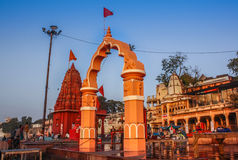 Rajghat Ujjain. Ujjain is one of the most holy place of India. Its also home of Kumbh Meta. Shipra or Kshipra river is 2nd holy river after Ganges. Here in this Royalty Free Stock Images